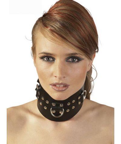 Leather collar w rings. Δερμάτινο κολλάρο με κρίκους.