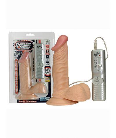Romantic Charmer vibrator. Ομοίωμα 14,00 εκ. με δόνηση και βεντούζα,