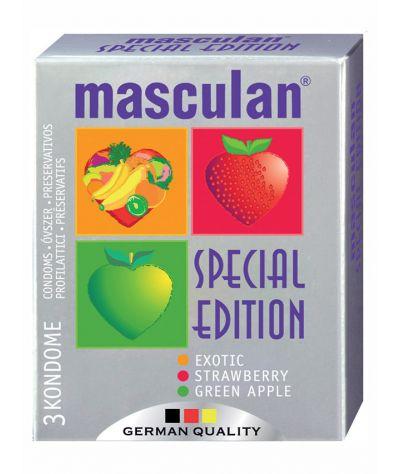 Masculan fruit condoms 3 pcs. Αρωματικά προφυλακτικά 3 τεμ.