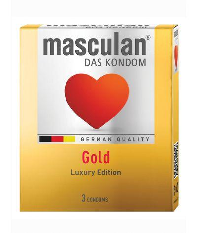 Masculan gold 3 pcs . Προφυλακτικό βανίλιας.