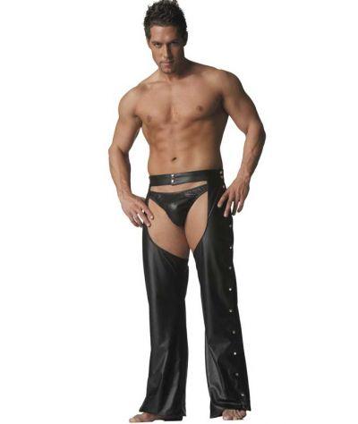 Δερμάτινο strip παντελόνι.