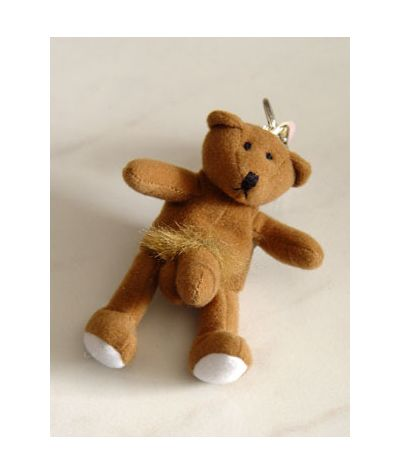 Brown bear keychain. Καφέ  αρκουδάκι μπρελόκ.