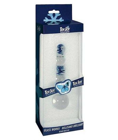 Glass dildo 16 εκ. διάμ. 2,5-4 εκ.Γυάλινο plug.