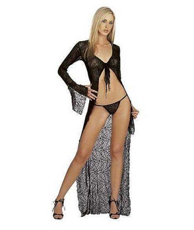 Long dress set  2pcs. Σετ 2 τεμ. Μαύρο