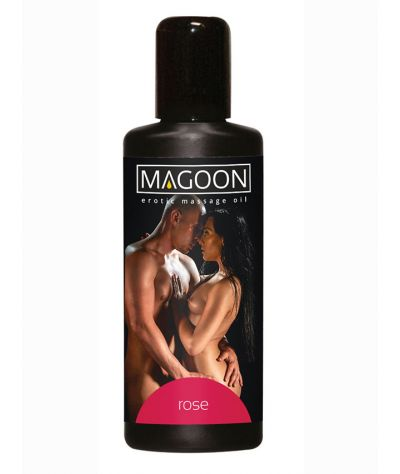 Magoon rose sex massage oil 100 ml. Λάδι μασάζ ρόδο 100 ml.