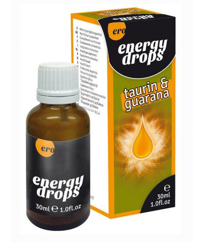 Energy Drops Taurin & Guarana (m+w) 30ml. Διεγερτικές σταγόνες 30ml.