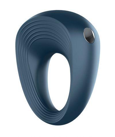 SATISFYER Rings Plus Vibration 2 dark blue Επαναφορτιζόμενο δακτυλιδι 10  δονήσεις