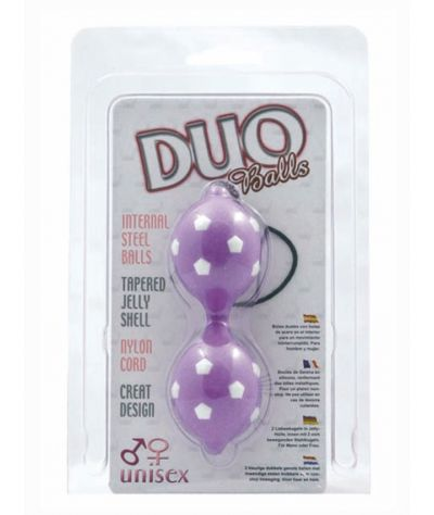 Duo Balls purple . Κολπικά μπαλάκια με προεξοχές.
