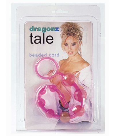 Flexible anal chain in pink, 30cm. Χάνδρες συμπαγείς 30 εκ.