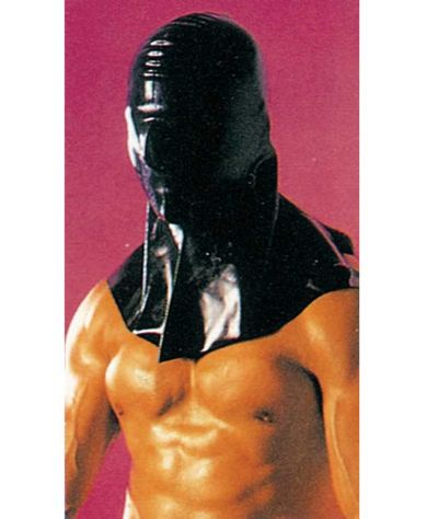 Μάσκα δημίου λάτεξ. Μαύρο