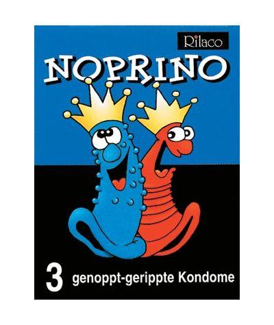 Rilaco noprino studded and ribbed. Προφυλακτικά με κουκίδες και ραβδώσεις 3 τεμ.