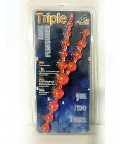 Triple anal beads. Τριπλές χάντρες από 12,00- 16,00 εκ και διάμ έως 3,00 εκ.