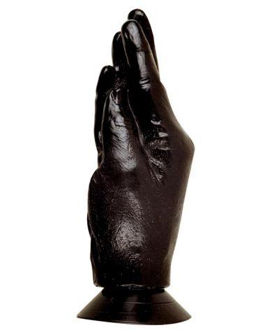 Hand black. Ομοίωμα χεριού από σιλικόνη με βεντούζα, 19 εκ.
