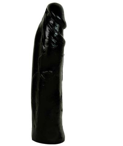 Silikone dildo black.