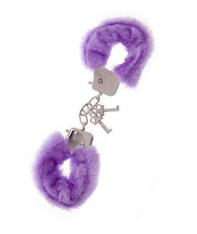 Hand cuffs lavender.  Μεταλλικές χειροπέδες με γούνα  μοβ.