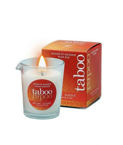 PECHE SUCRE MASSAGE CANDLE FOR HER 60 GR
