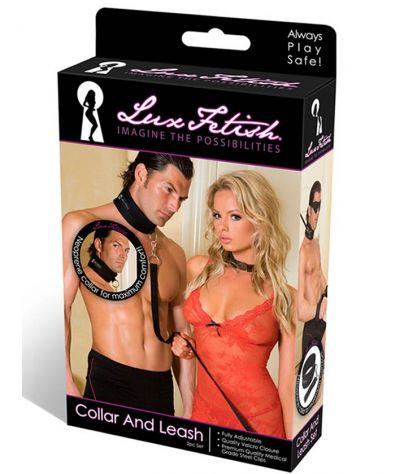 Lux fetish collar and leash. Περιλαίμιο με λουρί.