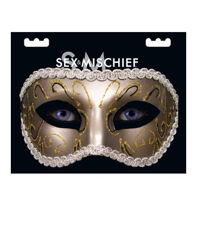 Masquerade Mask. Μάσκα ασημί.