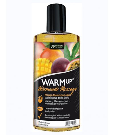 WARMup Mango + Maracuja massage oil 150 ml. Θερμαντικό και βρώσιμο λάδι μασάζ.