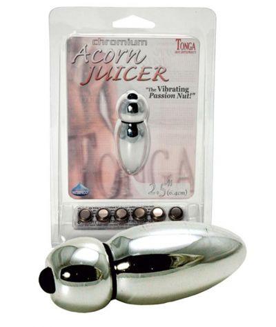 Chromium acorn juicer μπίλια. Μικροδονητής κοκκάλινος.