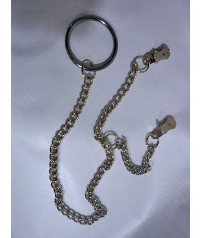 Nipple and cock ring  metal.Πιαστράκια  θηλών και μεταλικό δακτυίδι.